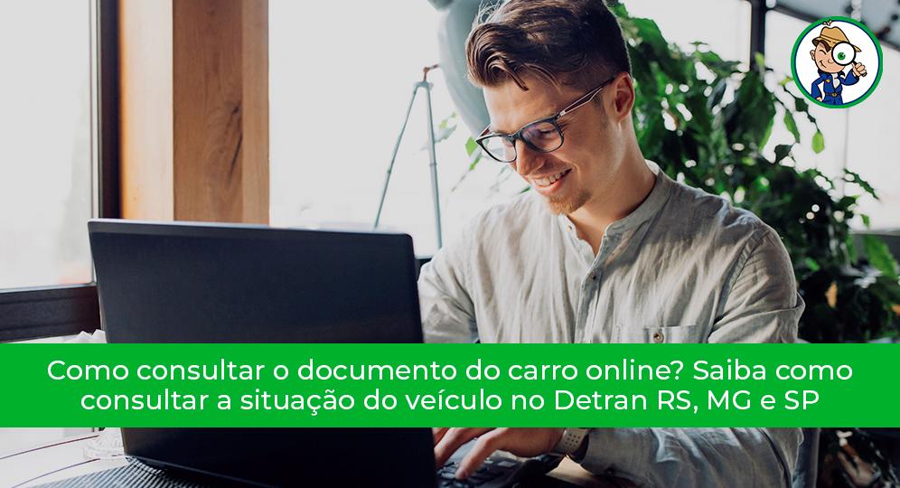 como fazer a consulta de um veículo online
