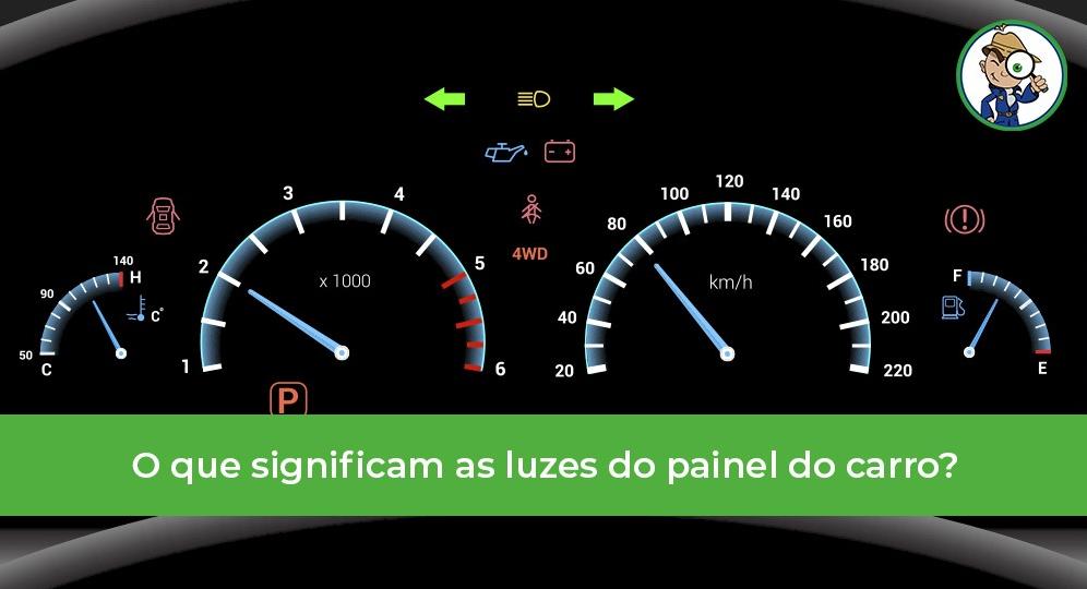 significado das luzes do painel do carro