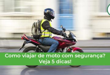 veja como viajar de moto com segurança