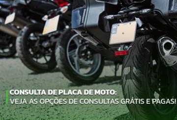 Consulta de placa de moto: veja as opções de consultas grátis e pagas!