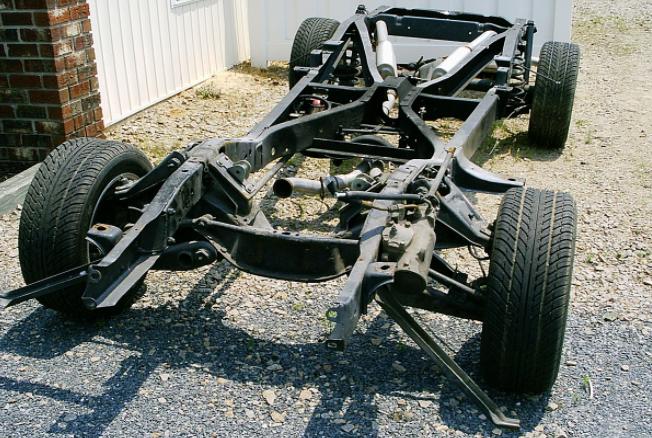 Imagem exemplo de um chassi de carro