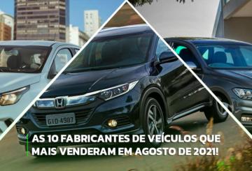 Imagem 3 fabricantes de veículos que mais venderam em 2021